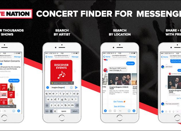 Live Nation Launches Integrated Facebook Messenger Ticketing App