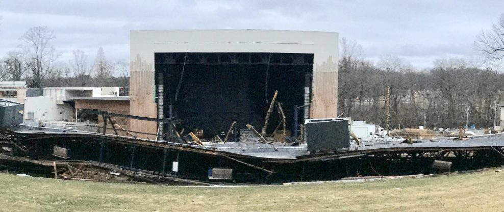 Merriweather Post Pavilion Roof Collapses
