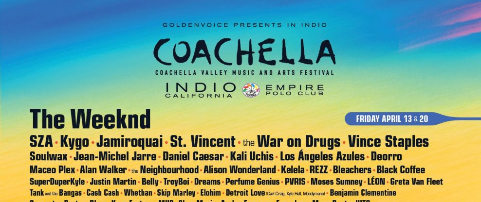 Coachella Announces 2018 Lineup
