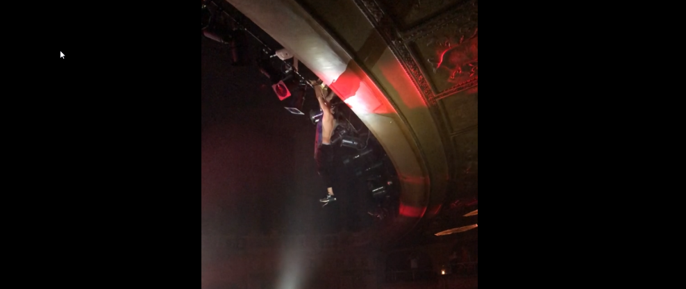 Man Dangles From Balcony At Above & Beyond Show