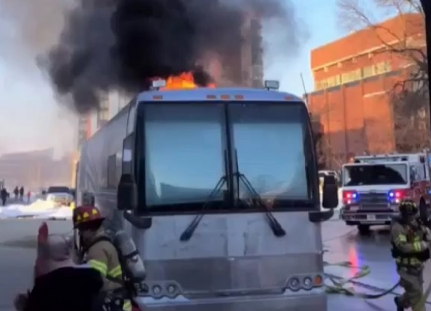 Portugal. The Man Tour Bus Catches Fire