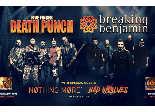 Five Finger Death Punch, Breaking Benjamin Announce Co-Headlining Tour
