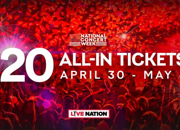 Live Nation Announces 'National Concert Week' + $20 All-In Ticket Offers