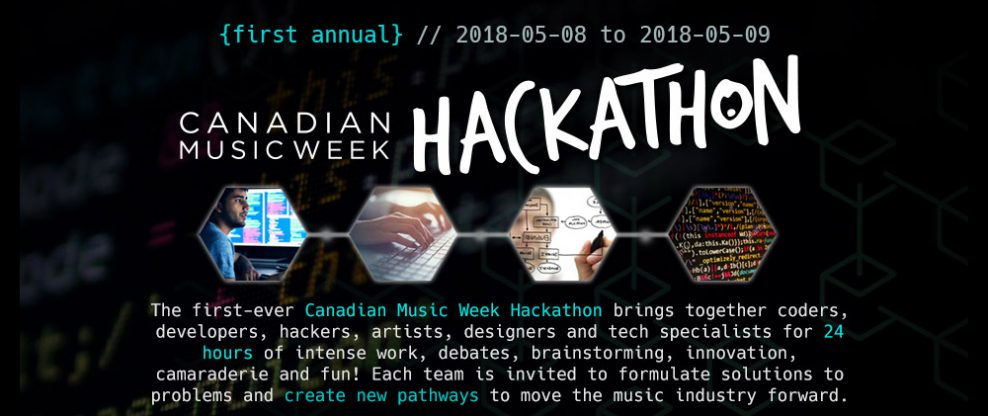 Canadian Music Week Announces First Annual 'Hackathon' Event