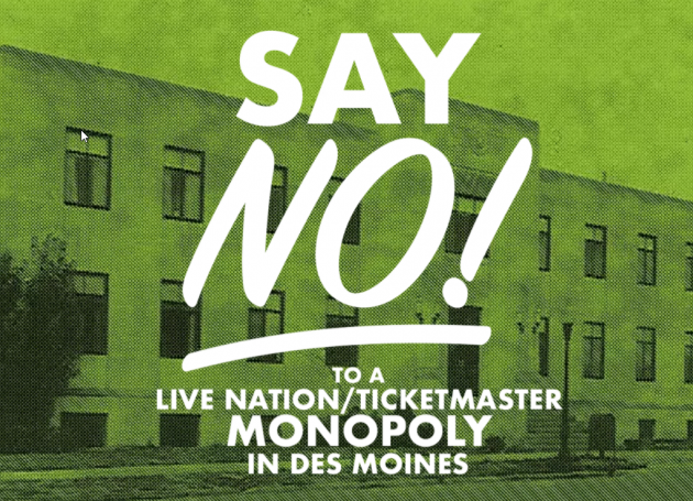 Live Nation Wants Des Moines Venues, Sees Pushback