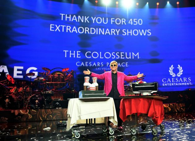 Elton John Takes Final Bow At Caesar's Palace As 'The Million Dollar Piano' Residency Comes To A Close