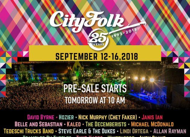 CityFolk Celebrates 25th Anniversary With Stellar Line-Up