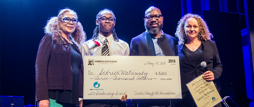 First Curtis Mayfield Scholarship Awarded To Sedrick McKinney