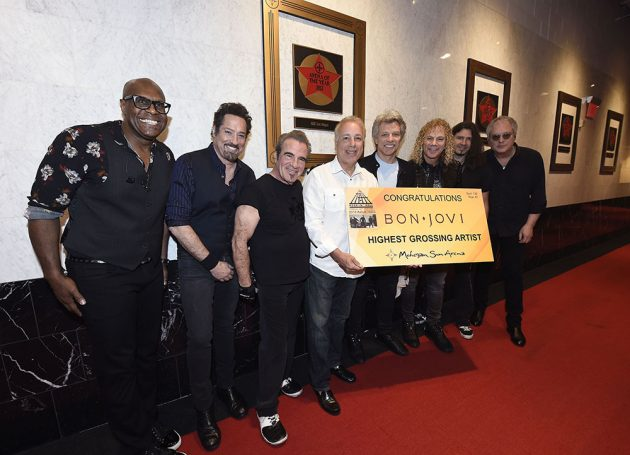 Tom Cantone Honors Bon Jovi As The Highest Grossing Band In Mohegan Sun's History