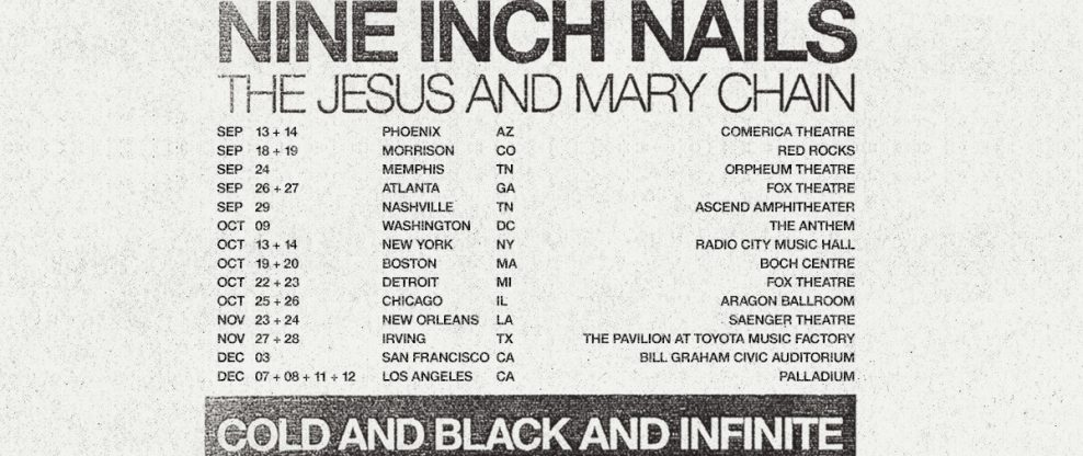 Nine Inch Nails To (Mostly) Skip Online Ticketing For Upcoming Tour