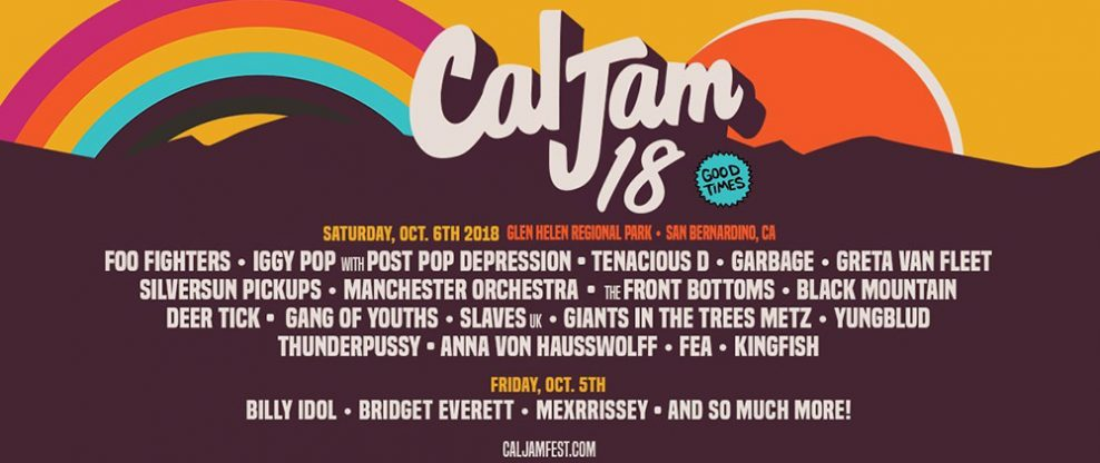 Foo Fighters, Billy Idol, Iggy Pop To Headline Cal Jam 18