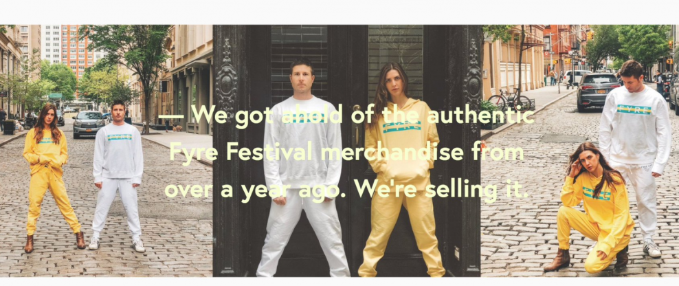 NYC Pop-Up Event Sells Out Of Fyre Fest Merch