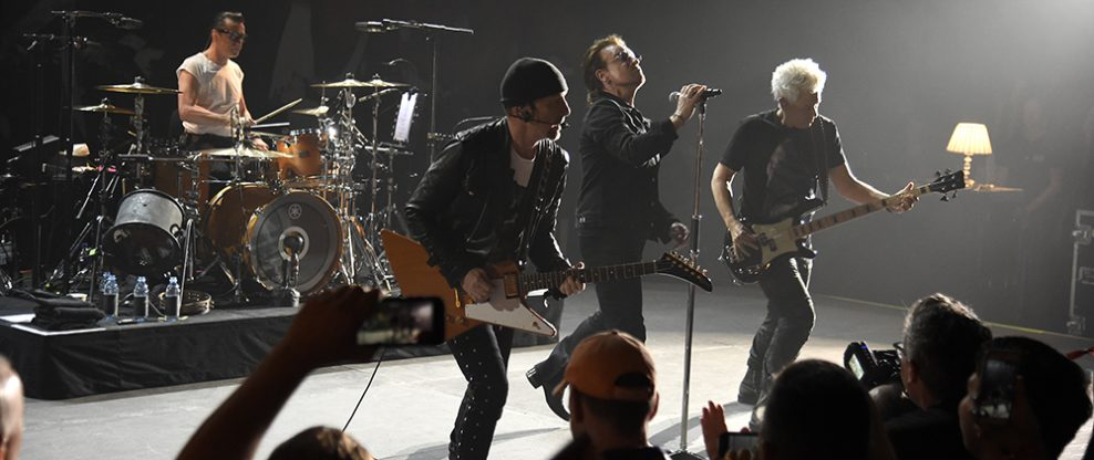 U2 Dedicates Song To Anthony Bourdain At Intimate NYC Show