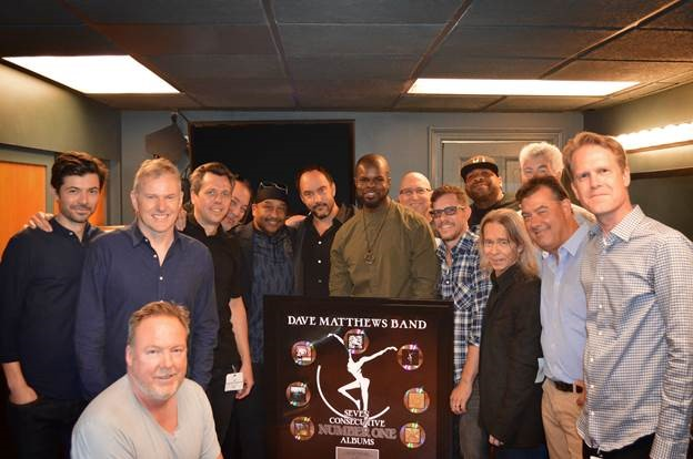 Dave Matthews Band Get A Plaque For 7th No. 1 Album