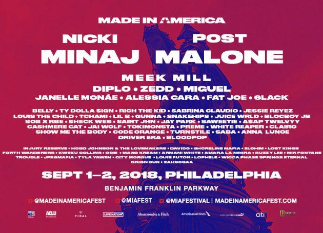 Nicki Minaj And Post Malone To Headline Jay-Z's Made In America Festival