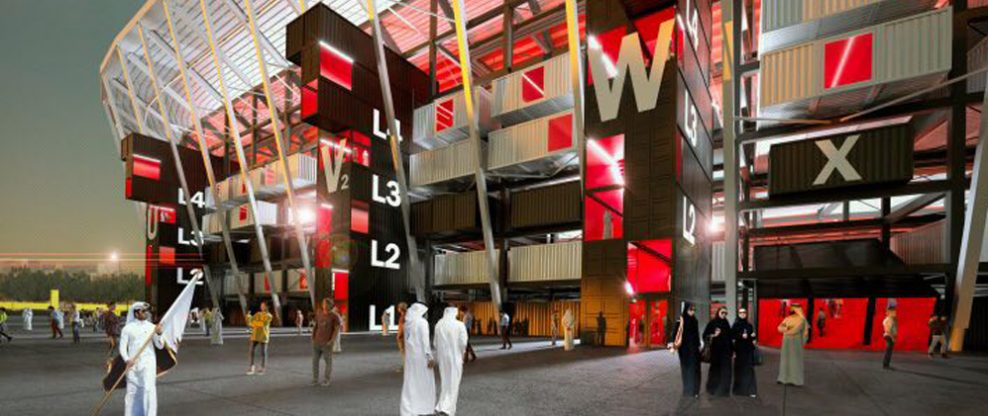 Construction Of Doha's Shipping Container Stadium Underway