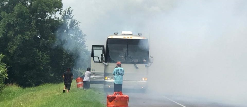 Shenandoah's Tour Bus Catches Fire