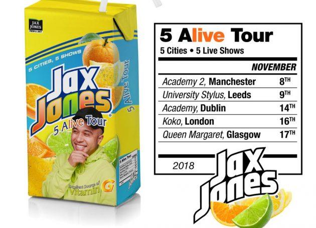 Jax Jones Announces '5 Alive' UK & Ireland Tour