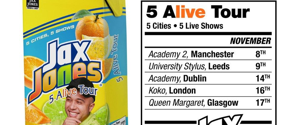 Jax Jones Announces '5 Alive' UK & Ireland Tour