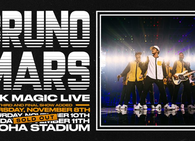 Bruno Mars Adds Historic 3rd Hawaii Show Following 2 Sold-Out Dates At Aloha Stadium