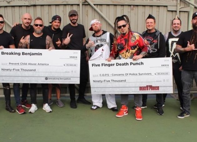 Five Finger Death Punch & Breaking Benjamin Donate $190,000 From Tour To Charity