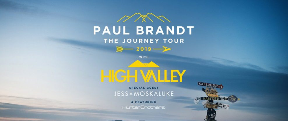 Paul Brandt + High Valley Announce The Journey Tour 2019
