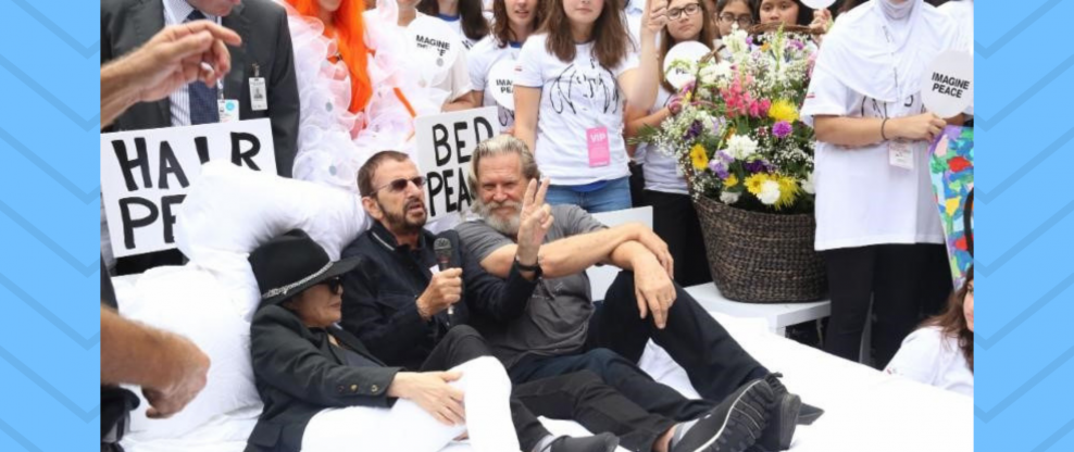 Yoko, Ringo & Jeff Bridges Have A 'Bed-In'