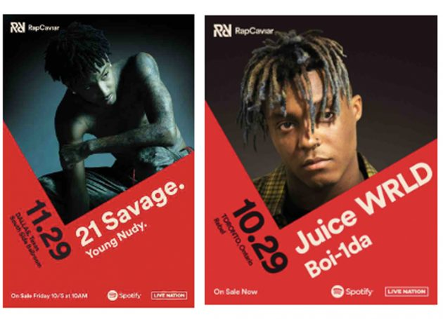 Spotify & Live Nation Urban Announce New Dates For RapCaviar Series in Toronto, ON & Dallas, TX