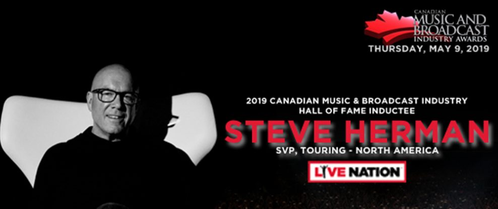 CMW Announces Steve Herman As 2019 Canadian Music & Broadcast Industry Awards Hall of Fame Inductee