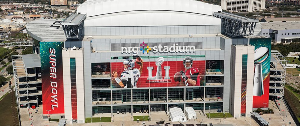 NRG Stadium ahead of the 2017 Super Bowl
