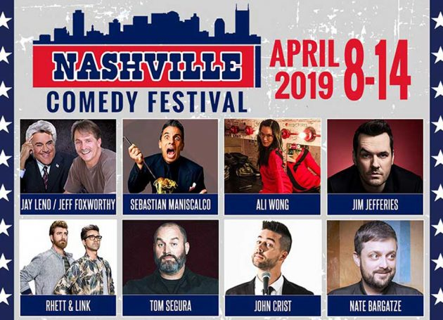 2019 Nashville Comedy Festival Brings Jay Leno, Jeff Foxworthy, Sebastian Maniscalco, Ali Wong, Jim Jefferies, Rhett & Link, Tom Segura To Music City
