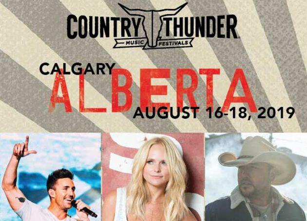 Jason Aldean, Jake Owen and Miranda Lambert With The Pistol Annies Set To Headline 2019 Country Thunder Alberta