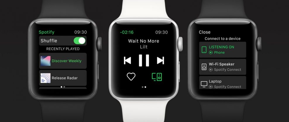 Spotify Launches App For Apple Watch