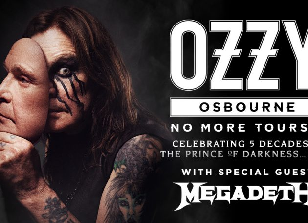 """Ozzy Osbourne Announces Additional Dates On North American """"No More Tours 2"""" + Megadeath Revealed As Special Guest"""