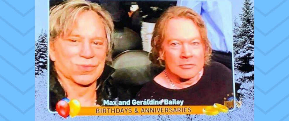 Prankster Gets Mickey Rourke / Axl Rose Photo Onto Canadian Local