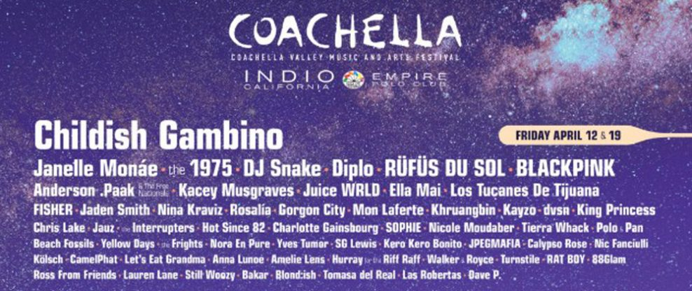 Coachella 2019 lineup: Ariana Grande, Childish Gambino and Tame Impala To Headline