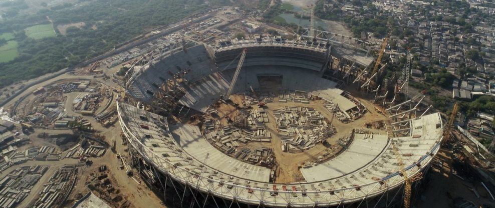 World's Largest Cricket Stadium Under Way In India