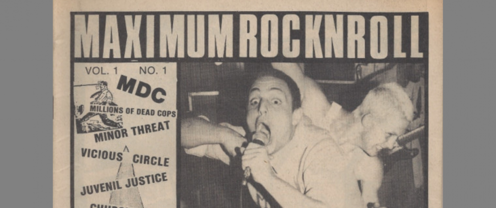 Maximum Rocknroll Will End Print Publication After 36 Years