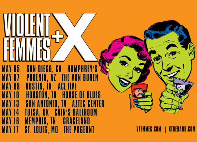 Violent Femmes + X Announce Spring Co-Headline Tour