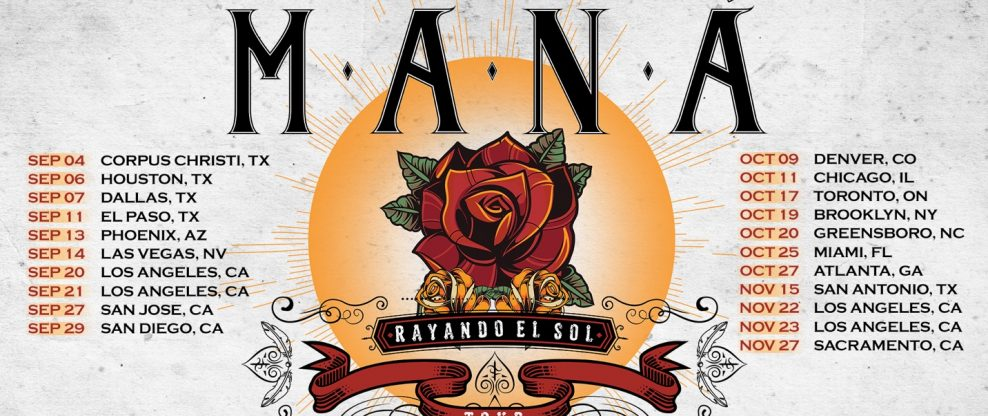 Latin Rock Icons Maná Confirm U.S. Dates For 'Rayando El Sol Tour'