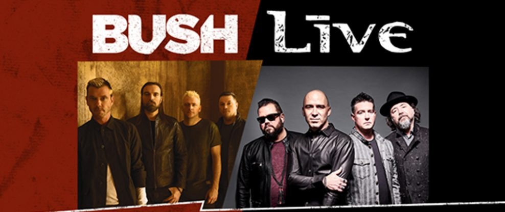 +LIVE+ And BUSH Celebrate 25th Anniversary Of Iconic Albums 'Throwing Copper' And 'Sixteen Stone' With Co-Headline Tour