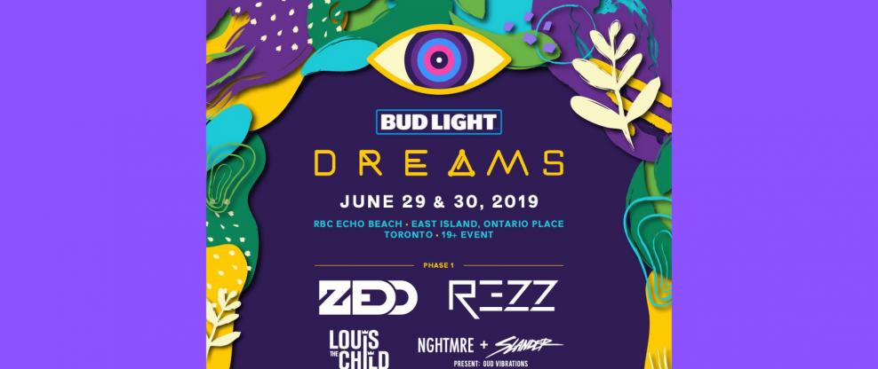 Zedd, Rezz, Louis The Child To Headline Toronto's Bud Light Dreams Music Festival