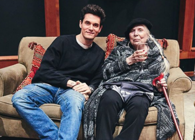 John Mayer Gets A Surprise Visit From Joni Mitchell