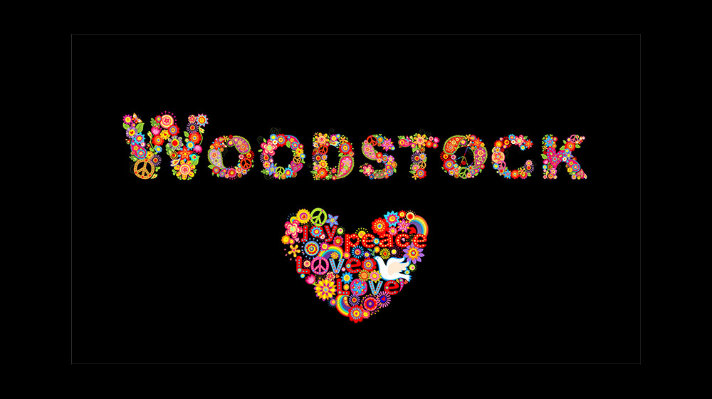 Blotter Art WOODSTOCK Signed By 2 Wavy /& Country Joe WITH ORIGINAL TICKET 1969