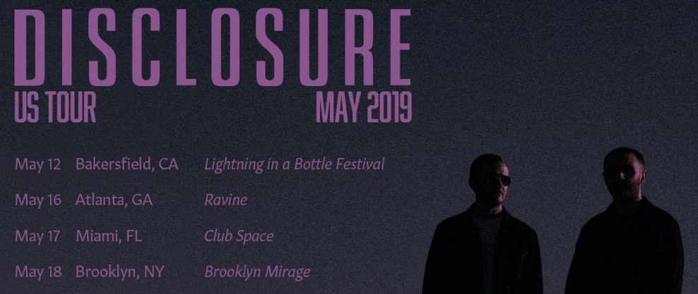Disclosure Announces North American Dates