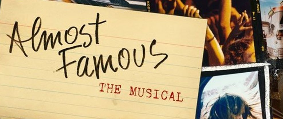Almost Famous Musical To Premiere This Fall