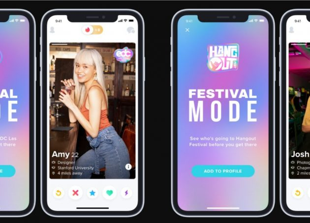 Tinder Launches 'Festival Mode' For People Looking To Hookup At Music Festivals This Summer