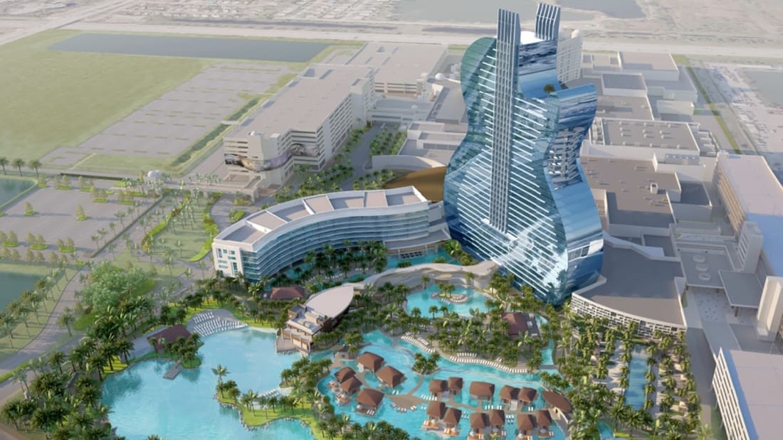 Hard Rock's Guitar-Shaped Hotel On Schedule For October Debut
