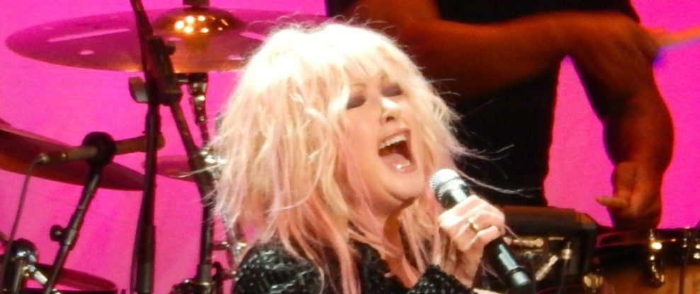 Cyndi Lauper Stung By Bee On Stage, Pulls Out Stinger & Continues Performing