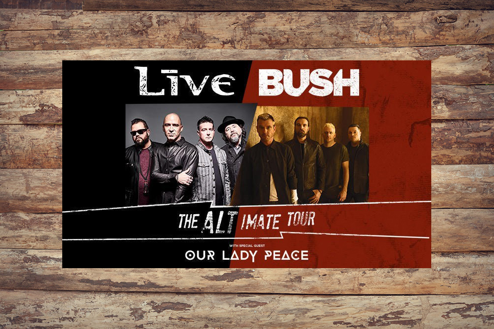 Live And Bush Expand Their Alt-Imate Tour - CelebrityAccess